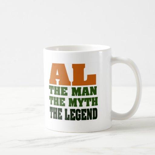 Al - the Man, the Myth, the Legend! Basic White Mug