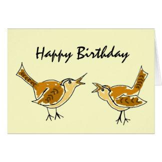 AL- Wren Happy Birthday Card
