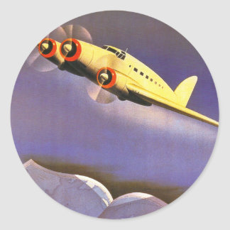 Ala Littoria Classic Round Sticker