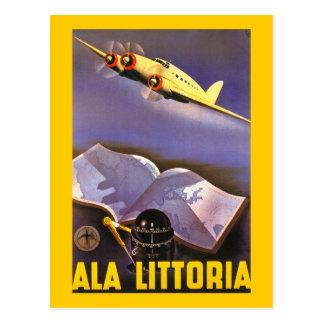 Ala Littoria Postcard