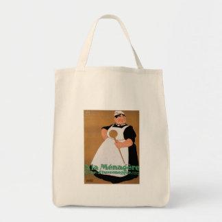 Ala Menagere Vintage Food Ad Art Canvas Bag
