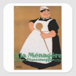 Ala Menagere Vintage Food Ad Art Square Stickers