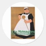 Ala Menagere Vintage Food Ad Art Classic Round Sticker
