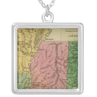 Ala, Miss, La, Ark Silver Plated Necklace
