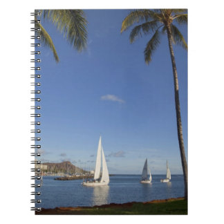 Ala Moana Beach Park, Waikiki, Honolulu 2 Spiral Notebook
