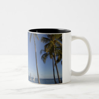 Ala Moana Beach Park, Waikiki, Honolulu 2 Two-Tone Coffee Mug