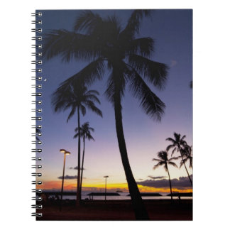 Ala Moana Beach Park, Waikiki, Honolulu 4 Spiral Notebook