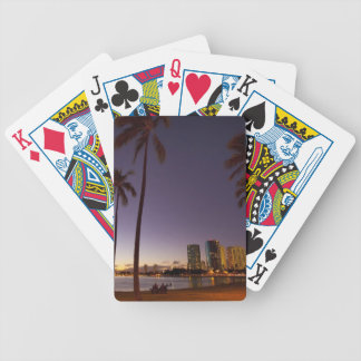 Ala Moana Beach Park, Waikiki, Honolulu 5 Bicycle Playing Cards