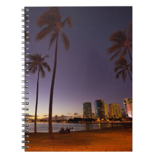 Ala Moana Beach Park, Waikiki, Honolulu 5 Notebooks