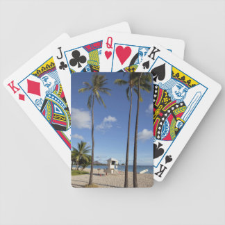 Ala Moana Beach Park, Waikiki, Honolulu 8 Bicycle Playing Cards