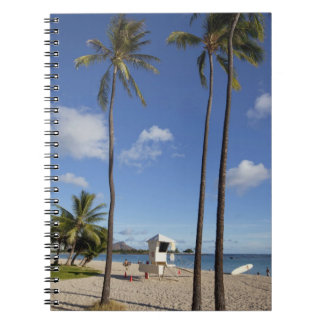 Ala Moana Beach Park, Waikiki, Honolulu 8 Spiral Notebook