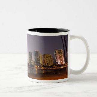 Ala Moana Beach Park, Waikiki, Honolulu Two-Tone Coffee Mug