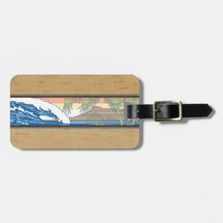 Ala Moana Diamond Head Hawaiian Surf Sign Luggage Tag