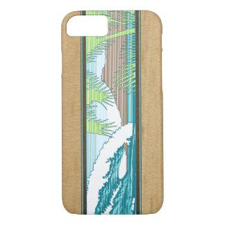 Ala Moana Hawaiian Faux Koa Wood Surf Sign iPhone 8/7 Case