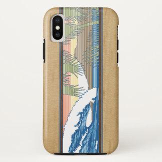 Ala Moana Hawaiian Faux Koa Wood Surf Sign iPhone X Case