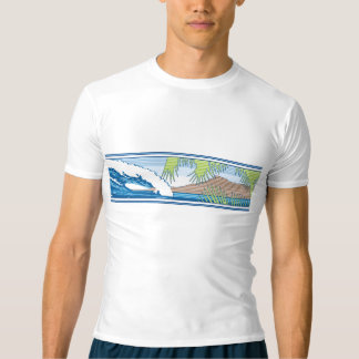 Ala Moana Hawaiian Surf Rash Guard T-Shirt