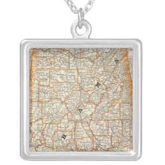 Alabama 4 silver plated necklace
