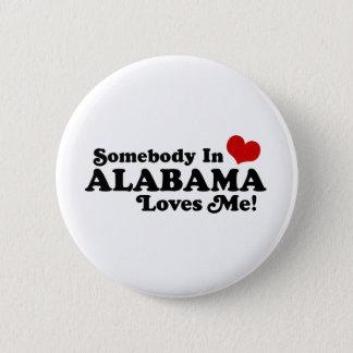 Alabama 6 Cm Round Badge