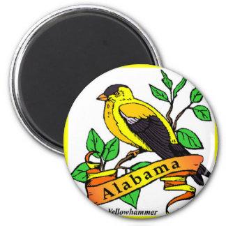 alabama 6 cm round magnet