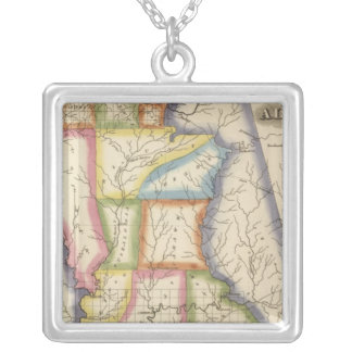 Alabama 6 silver plated necklace