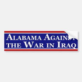 Alabama Against the War in Iraq Bumper Sticker