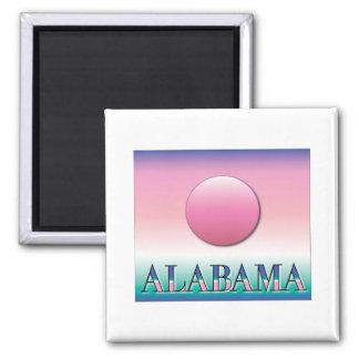 Alabama Airbrush Sunset Square Magnet
