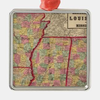Alabama, Arkansas, Louisiana, and Mississippi 2 Christmas Ornament