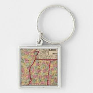 Alabama, Arkansas, Louisiana, and Mississippi 2 Key Ring