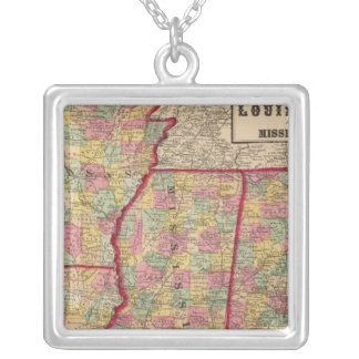 Alabama, Arkansas, Louisiana, and Mississippi 2 Silver Plated Necklace