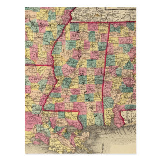 Alabama, Arkansas, Louisiana, and Mississippi Postcard