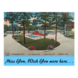 Alabama, Bama Motel Postcard