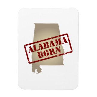 Alabama Born - Stamp on Map Rectangle Magnet