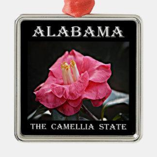 Alabama Camellia Christmas Ornament