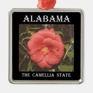 Alabama Camellia (Red) Christmas Ornament