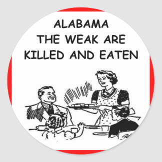 ALABAMA CLASSIC ROUND STICKER