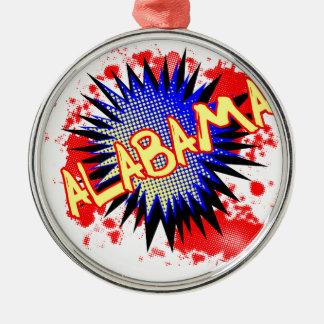 Alabama Comic Exclamation Christmas Ornament