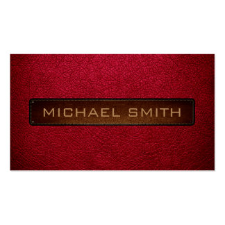 Alabama crimson Leather Look Professional Pack Of Standard Business Cards