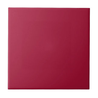 ALABAMA CRIMSON RED  (solid color background) ~ Small Square Tile