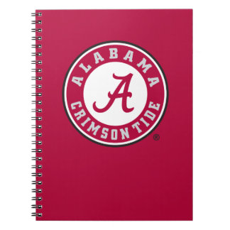 Alabama Crimson Tide Circle  Notebook