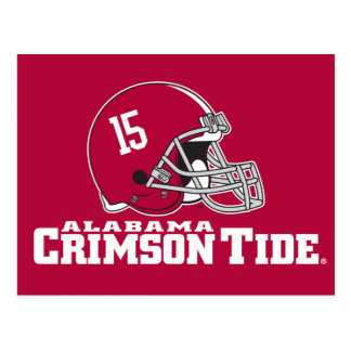 Alabama Crimson Tide Helmet Postcard