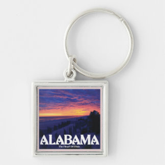 Alabama Dark Sunset Key Ring