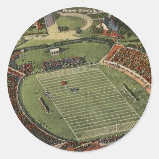 Alabama Denny Stadium Vintage Postcard Round Sticker