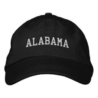 Alabama Embroidered Adjustable Cap Black Embroidered Baseball Caps
