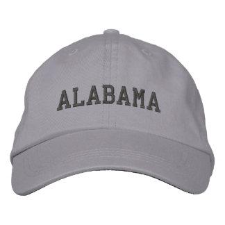 Alabama Embroidered Adjustable Cap Cool Grey Embroidered Baseball Cap