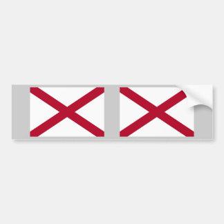Alabama Flag Bumper Sticker