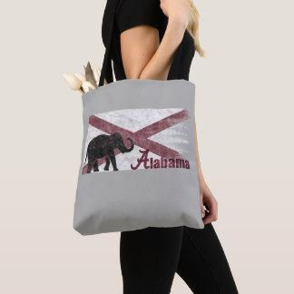 Alabama Flag, Elephant. Retro Vintage, Distressed Tote Bag