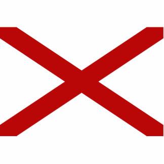 Alabama Flag Keychain Cut Out