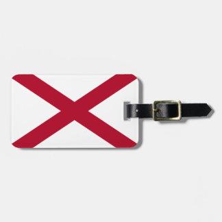 Alabama flag luggage tag