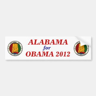 ALABAMA for Obama 2012 sticker Bumper Stickers