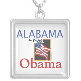 Alabama for Obama Election Necklace